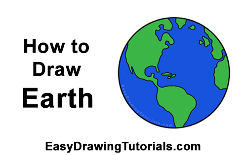 How to earth video. Planet clipart easy draw