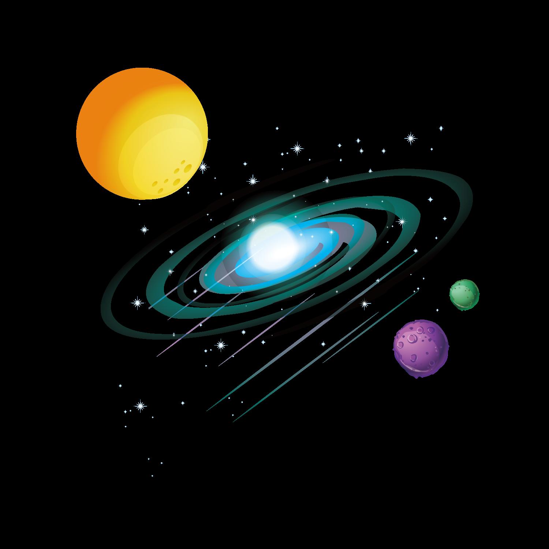 Planet clipart el espacio. Exterior de la nave