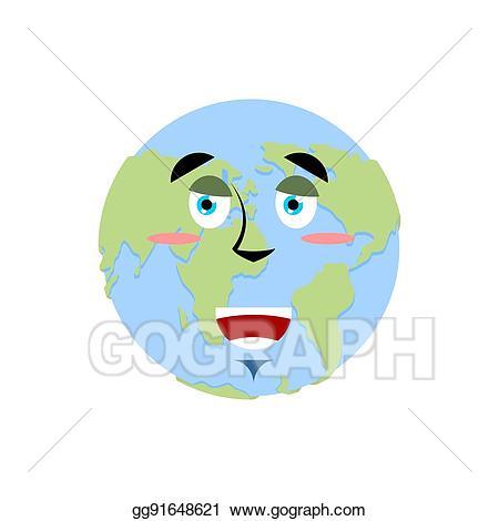 Vector art earth happy. Planet clipart emoji