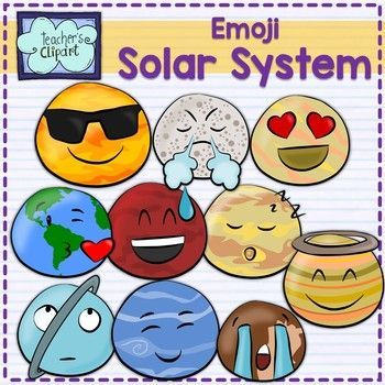 Planet clipart emoji. Solar system planets style