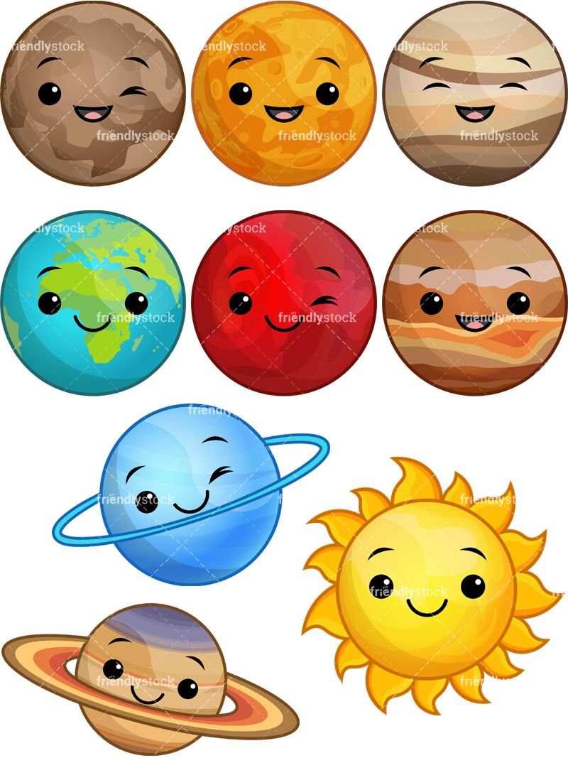 Planets clipart face. Pin on fairy kei