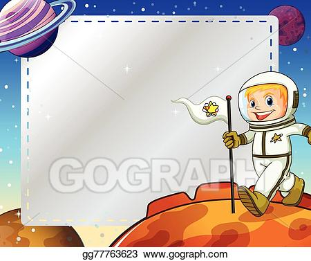 Planets clipart frame. Vector art drawing gg