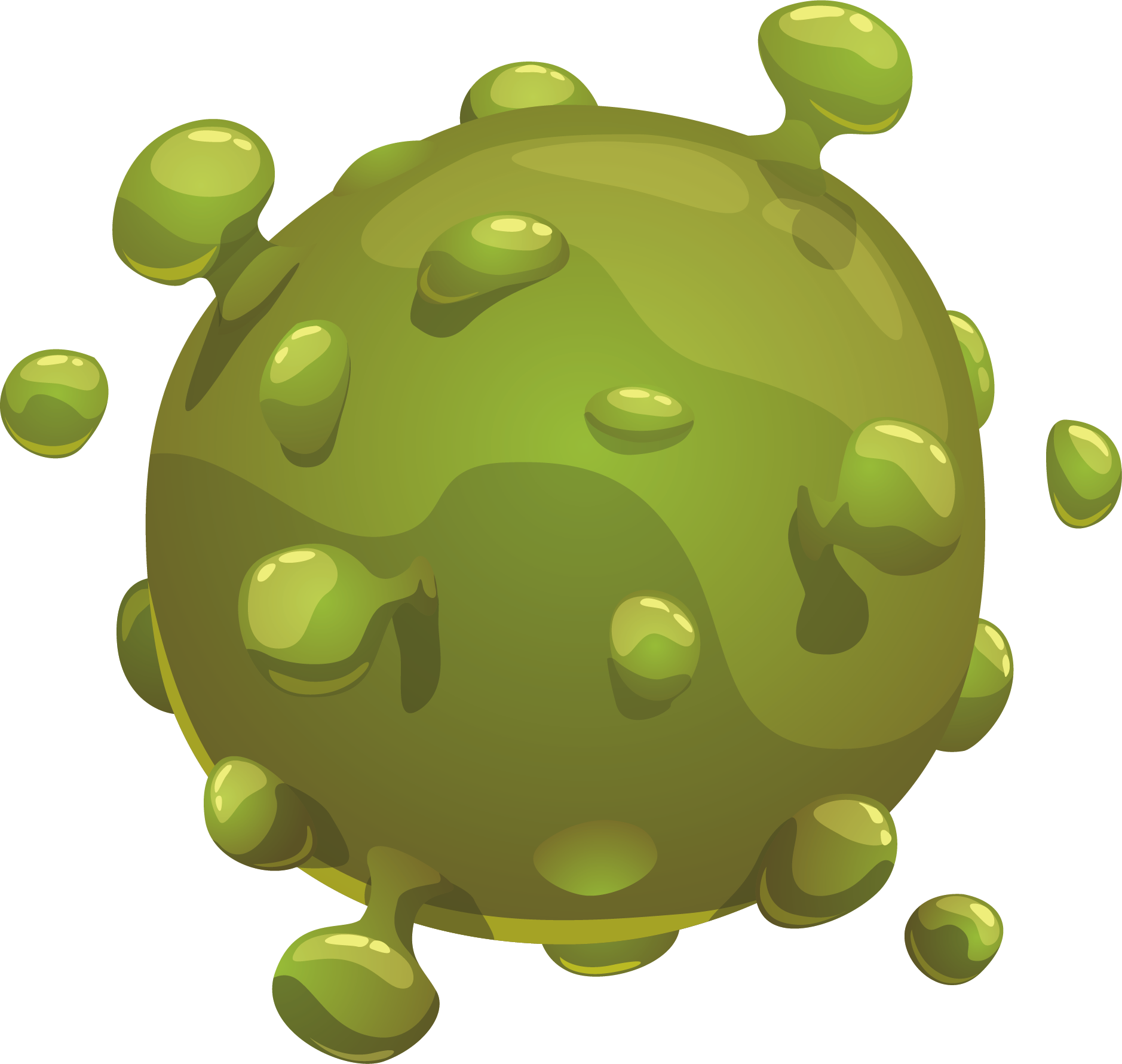 Planet clipart green planet. Microorganism bacteria transprent png