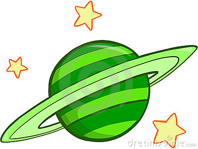 Pencil and in color. Planets clipart green planet