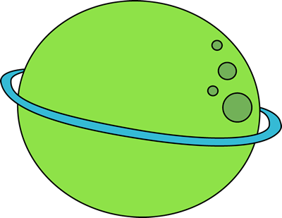 Green planet . Planeten clipart cartoon