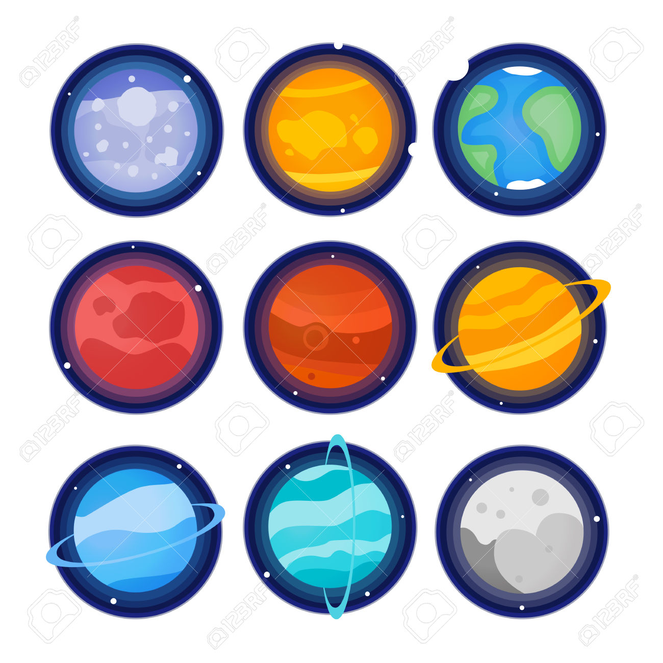 Planet clipart individual. The planets free download