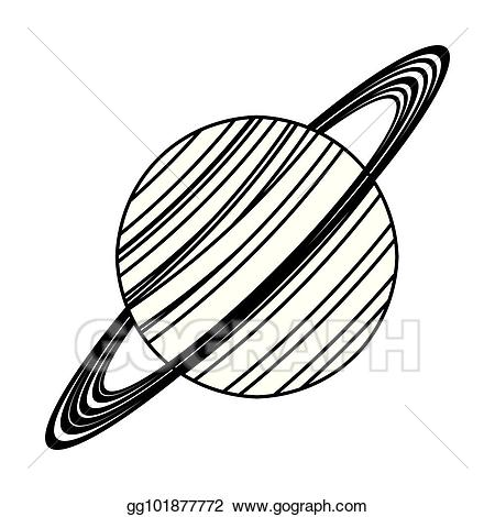 Vector stock saturn astronomy. Planet clipart line