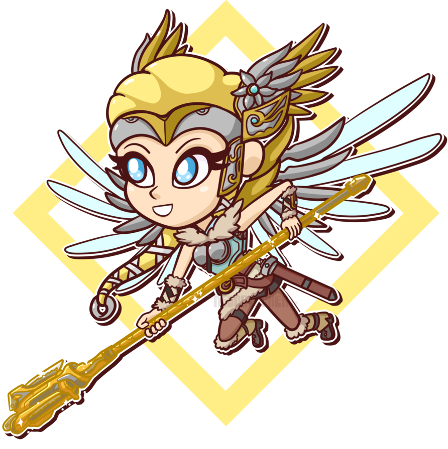 Planets clipart mercy. Gold valkyrie chibi by