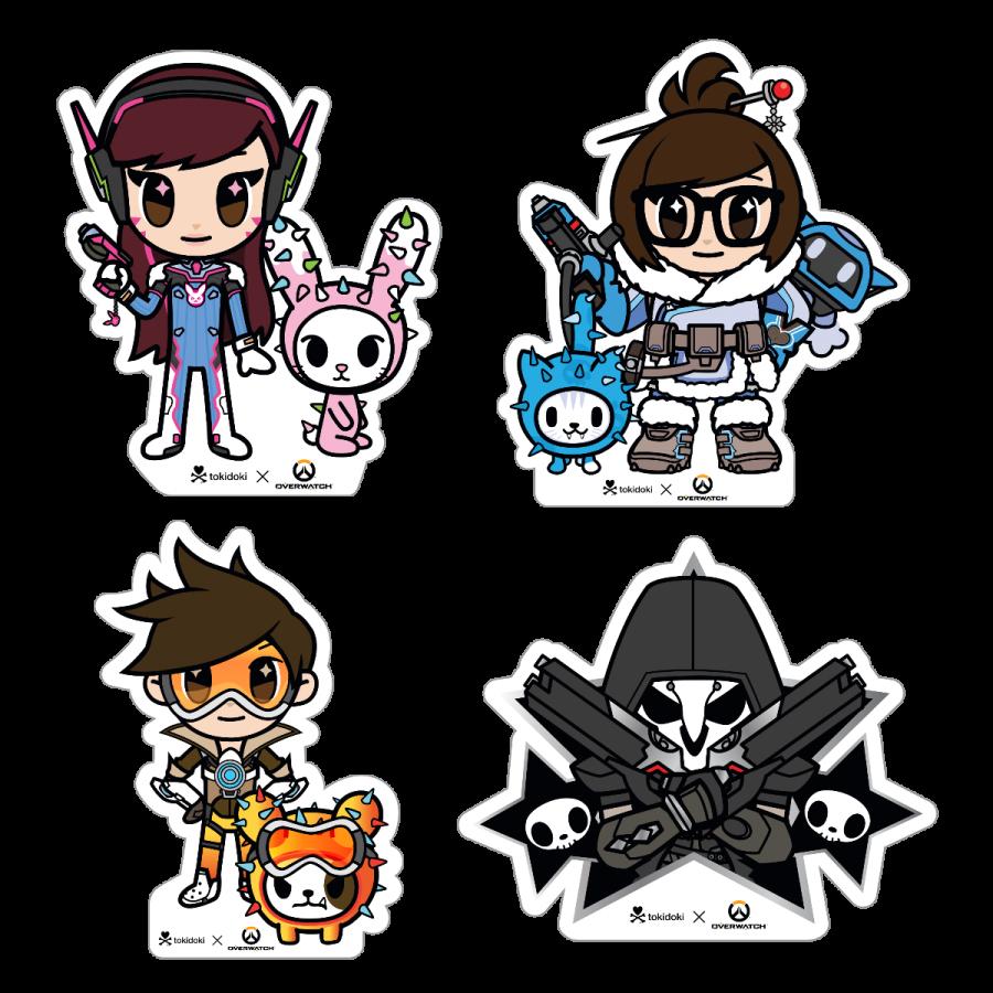 Tokidoki x overwatch stickers. Planet clipart mercy