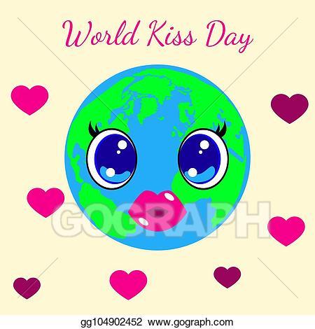 Eps vector world kiss. Planet clipart name