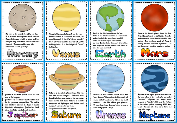 Planet clipart name. Nine planets free images