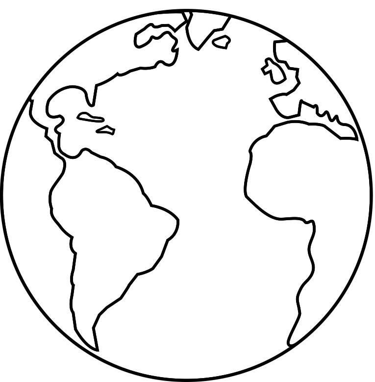 Planet clipart outline. Images of earth map