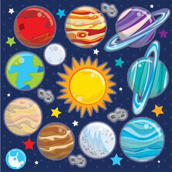 Planet clipart paper. Buy get solar system
