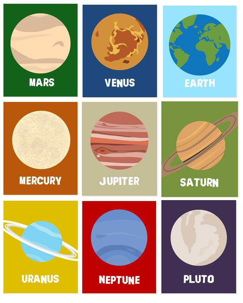 Planets clipart print. Popular items for planet