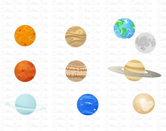 Solar system svg planets. Planet clipart print
