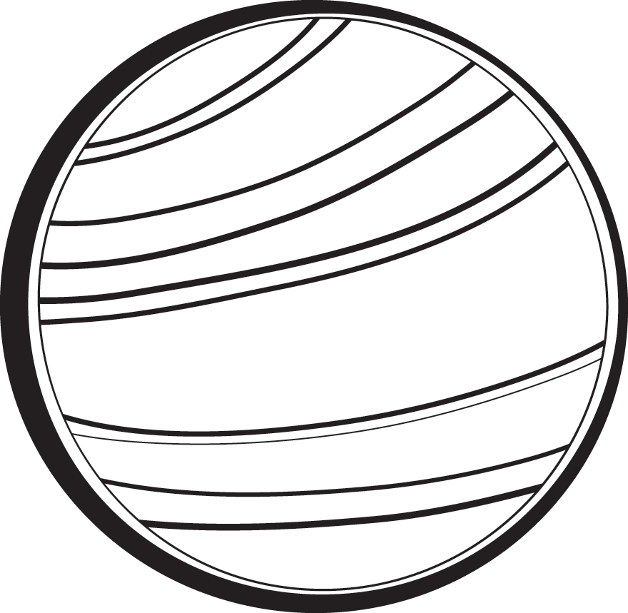 Planet clipart printable. Black and white free