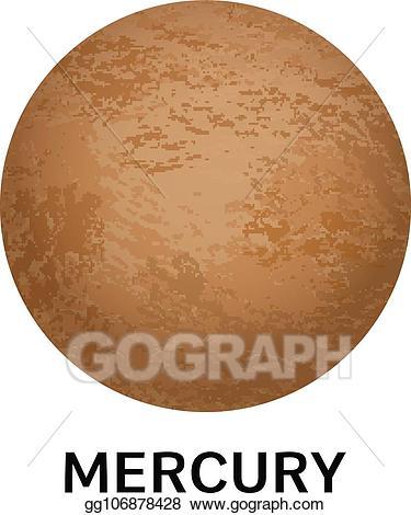 Vector art mercury icon. Planet clipart realistic