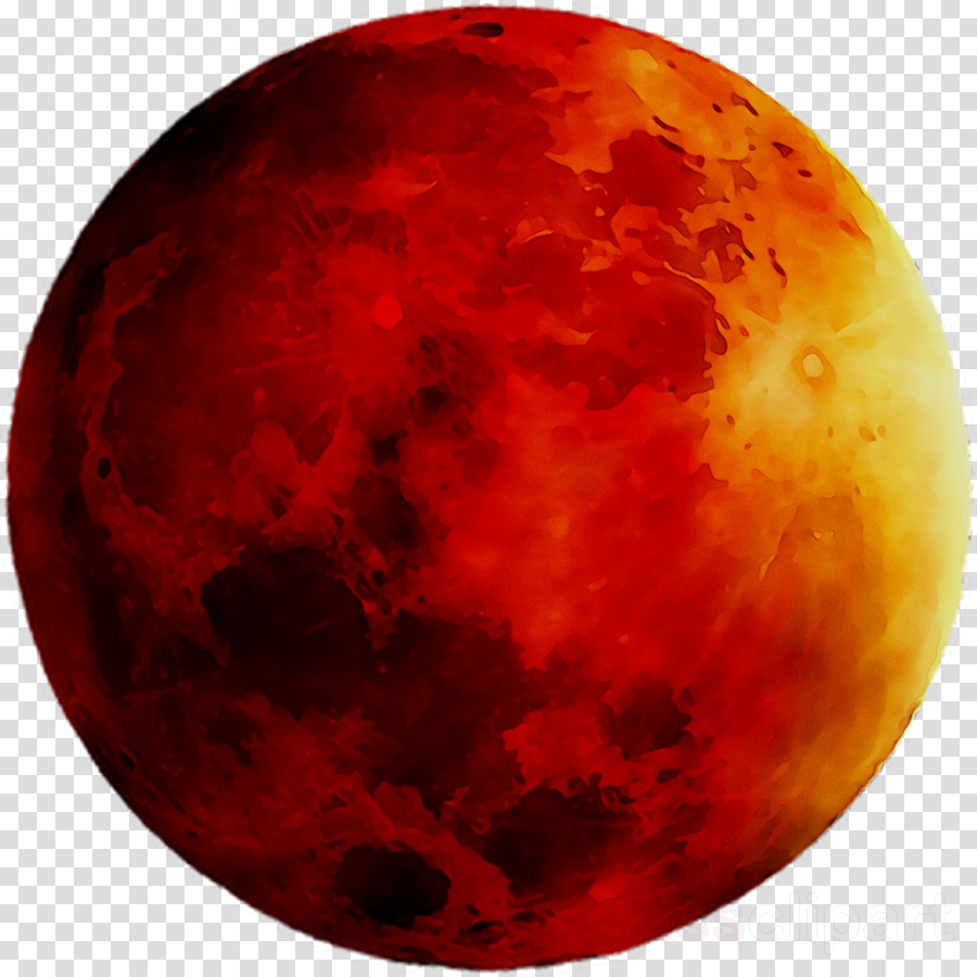Planets clipart red moon. Cartoon orange transparent clip
