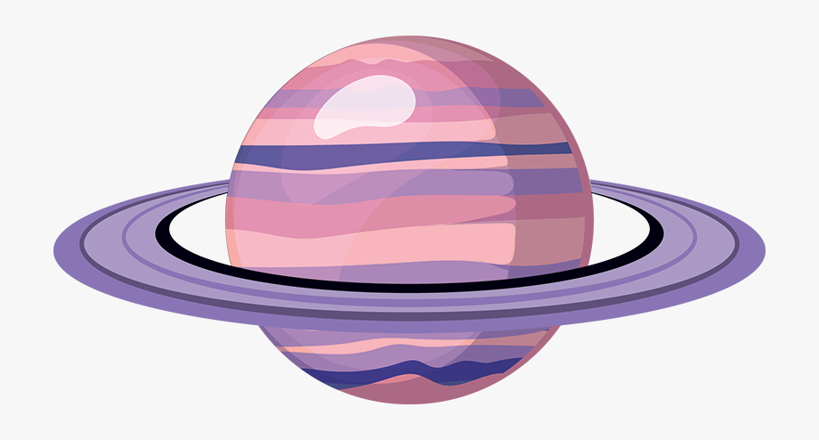 Saturn the space estate. Planet clipart ringed planet