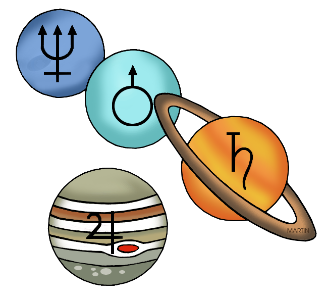 Outer space clip art. Planets clipart different