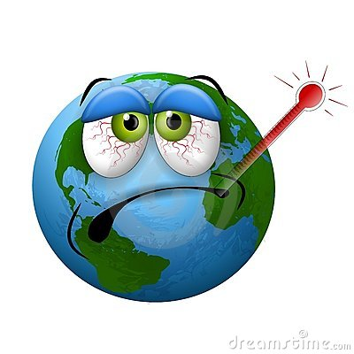 Planet clipart sick. Earth thermometer panda free