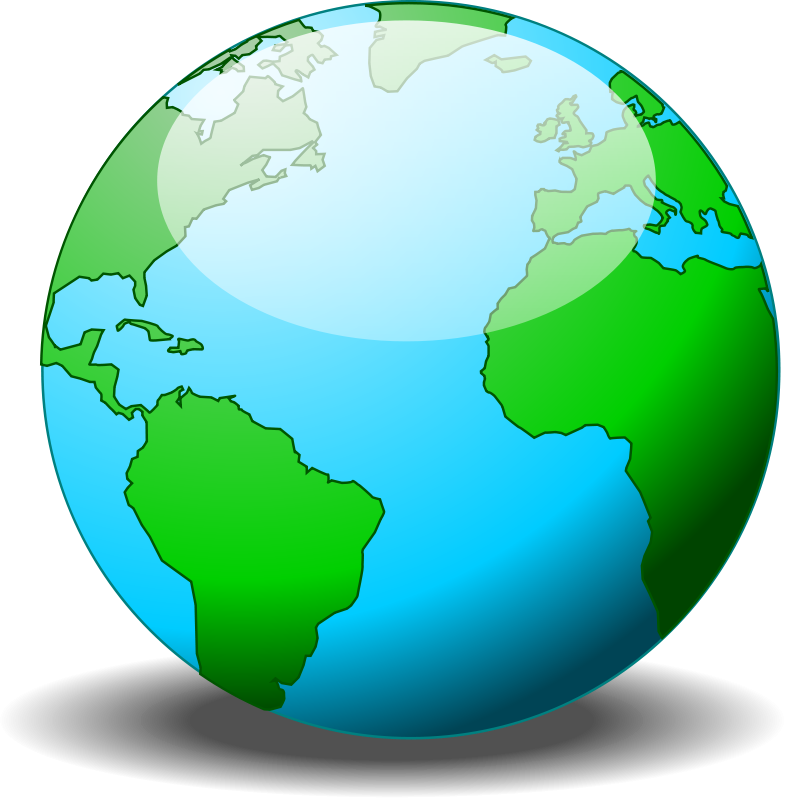 Planet clipart simple. A globe free vector
