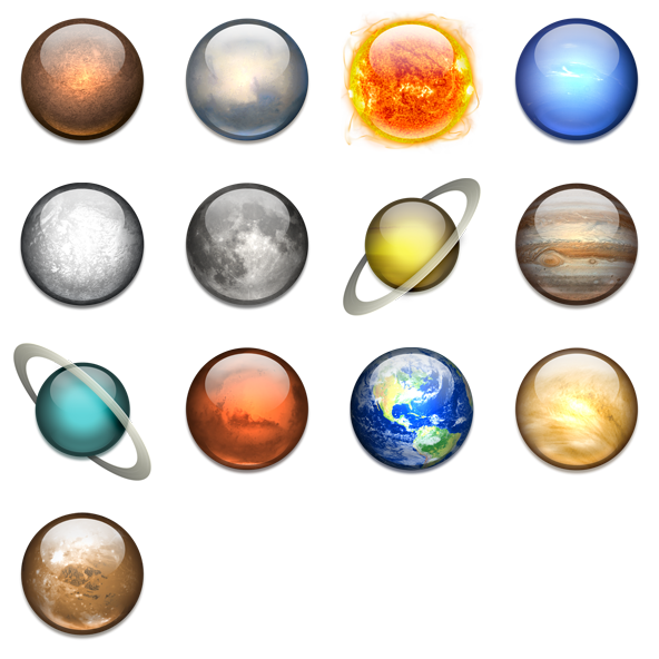collection of system. Planets clipart solar sytem