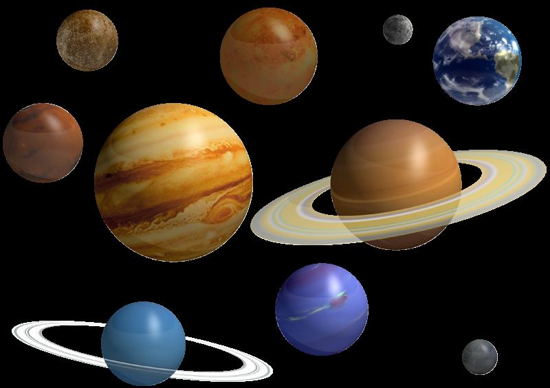 Planets clipart solar sytem. The nine system saturn