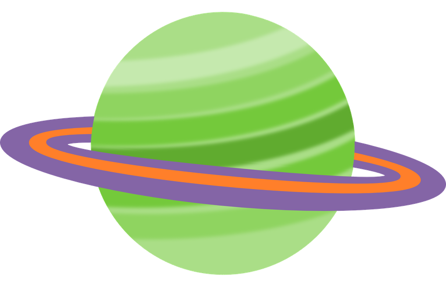 Minus say hello espa. Planet clipart space party