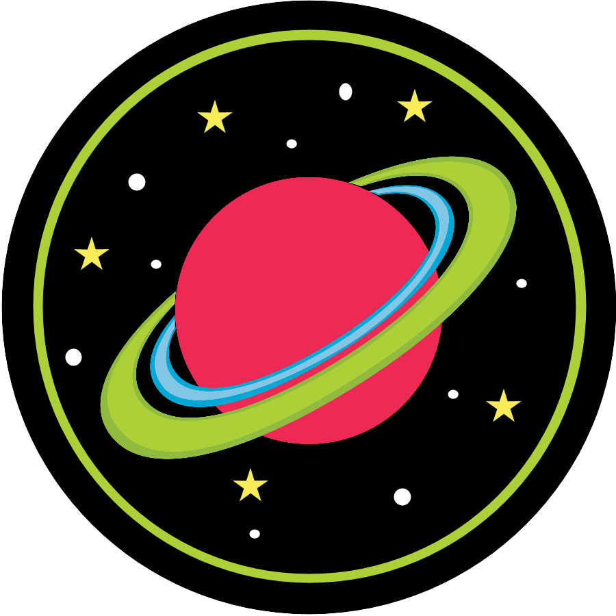 Planet clipart space party. Birthday invitations pack cupcaketopperplanet