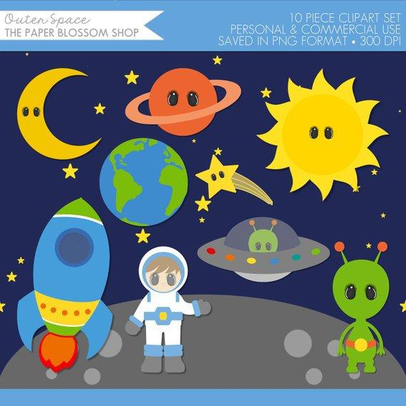 Clip art outer . Planet clipart space party