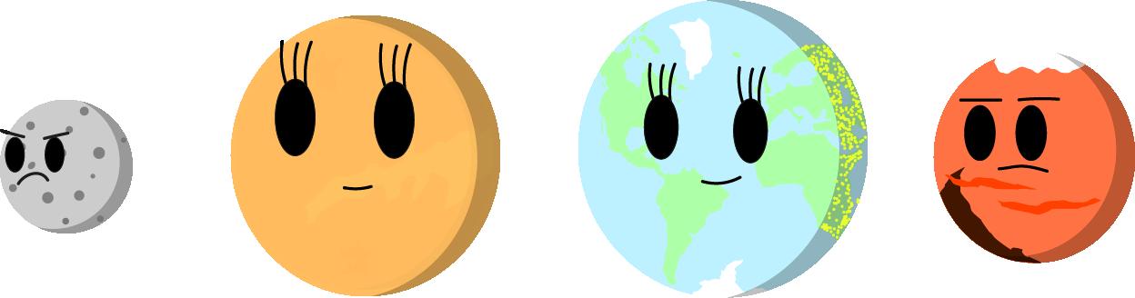 Planets clipart solar sytem. Terrestrial planet simple cosmos