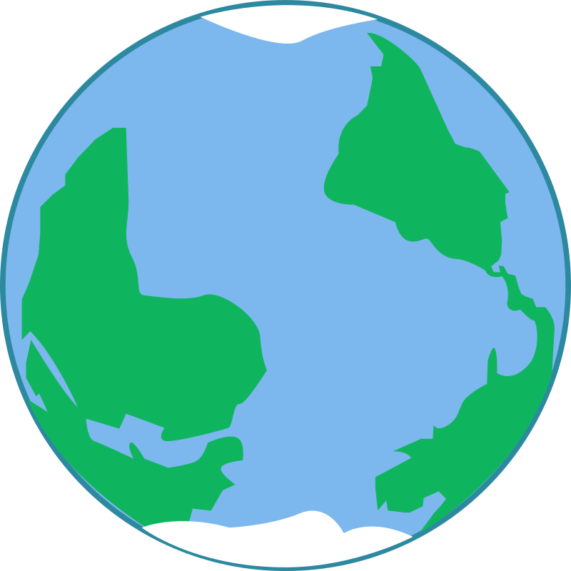 World planet earth medium. Planeten clipart bumi