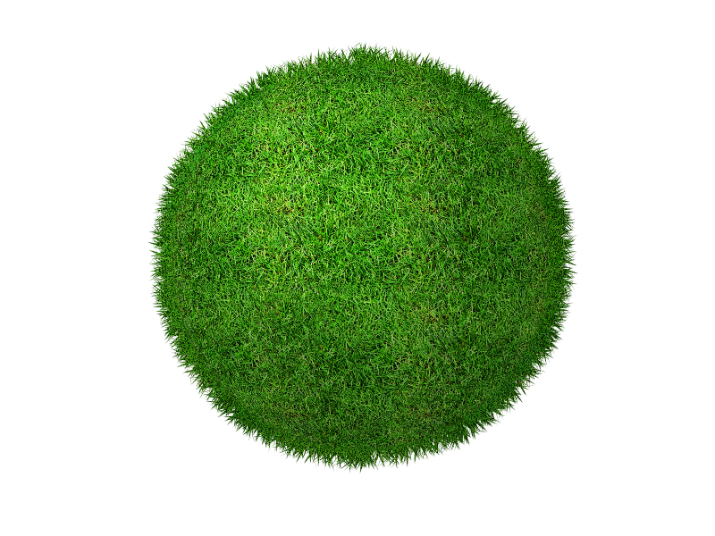 Green grass and clover. Planet clipart transparent background
