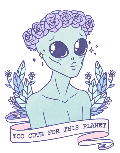 Ufo clipart transparent tumblr. Alien transparentgurl