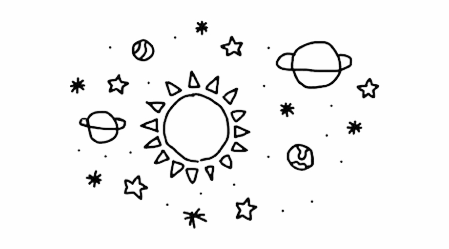 Planets clipart transparent tumblr. Planet cute aesthetic free