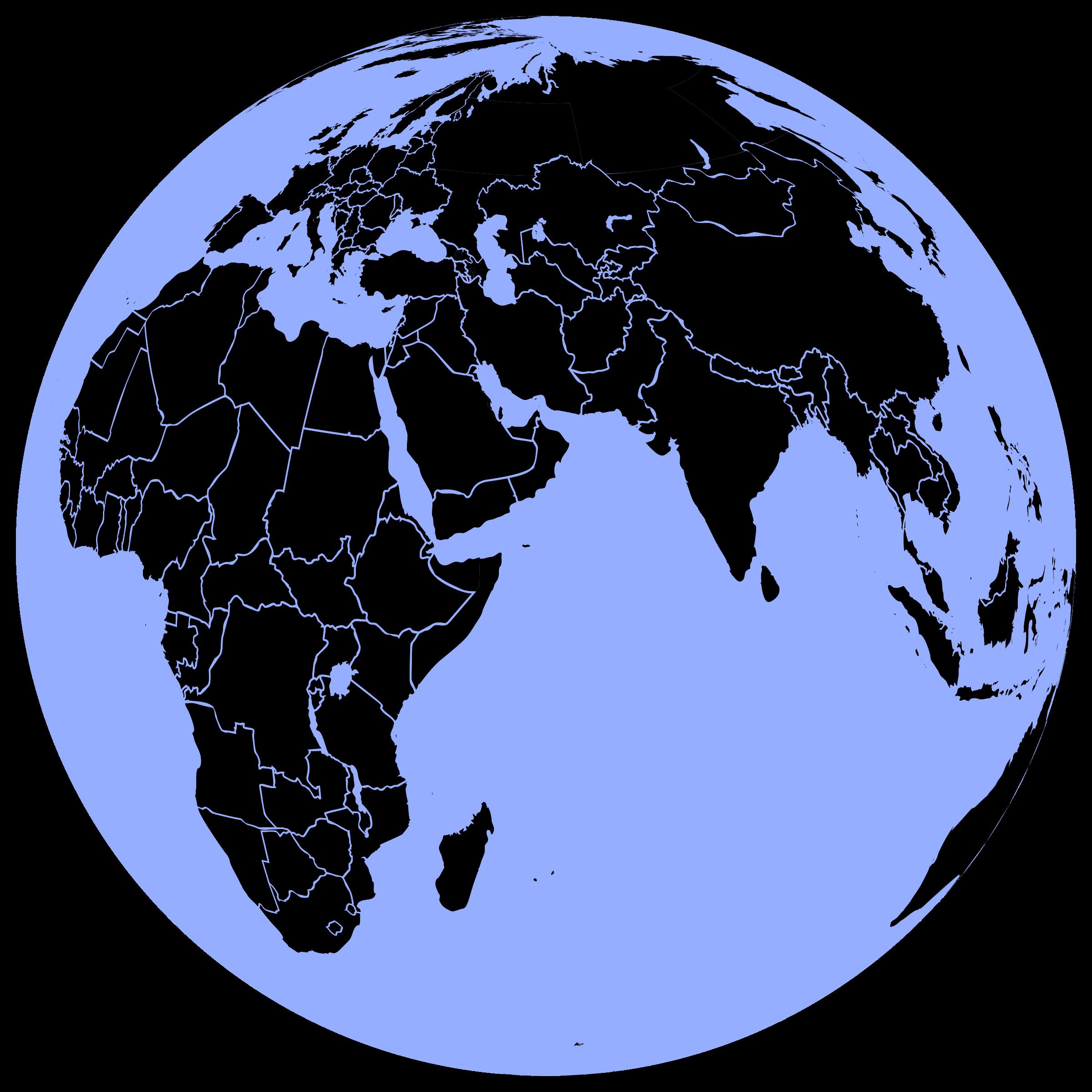 Black and blue big. Planeten clipart 3d globe