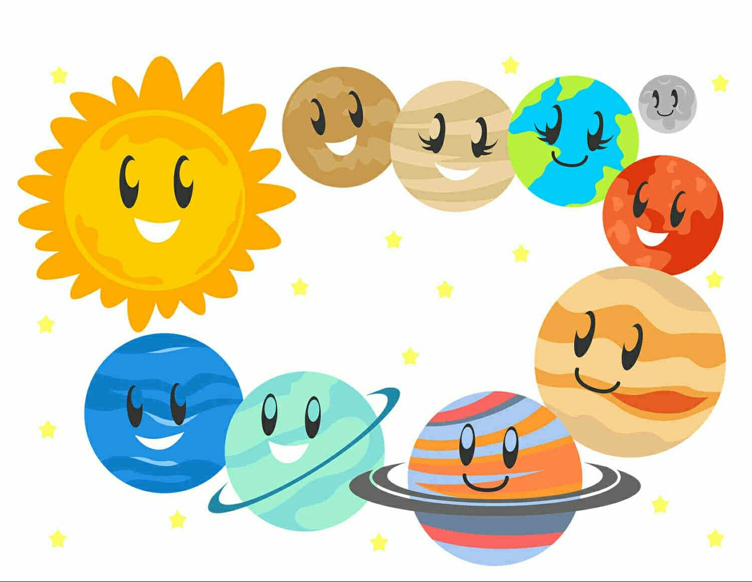 Planeten clipart adorable. Pin by lady vodka