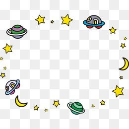Planeten clipart border.  space vector cartoon