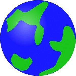 Planeten clipart carton. Green geography globe planet