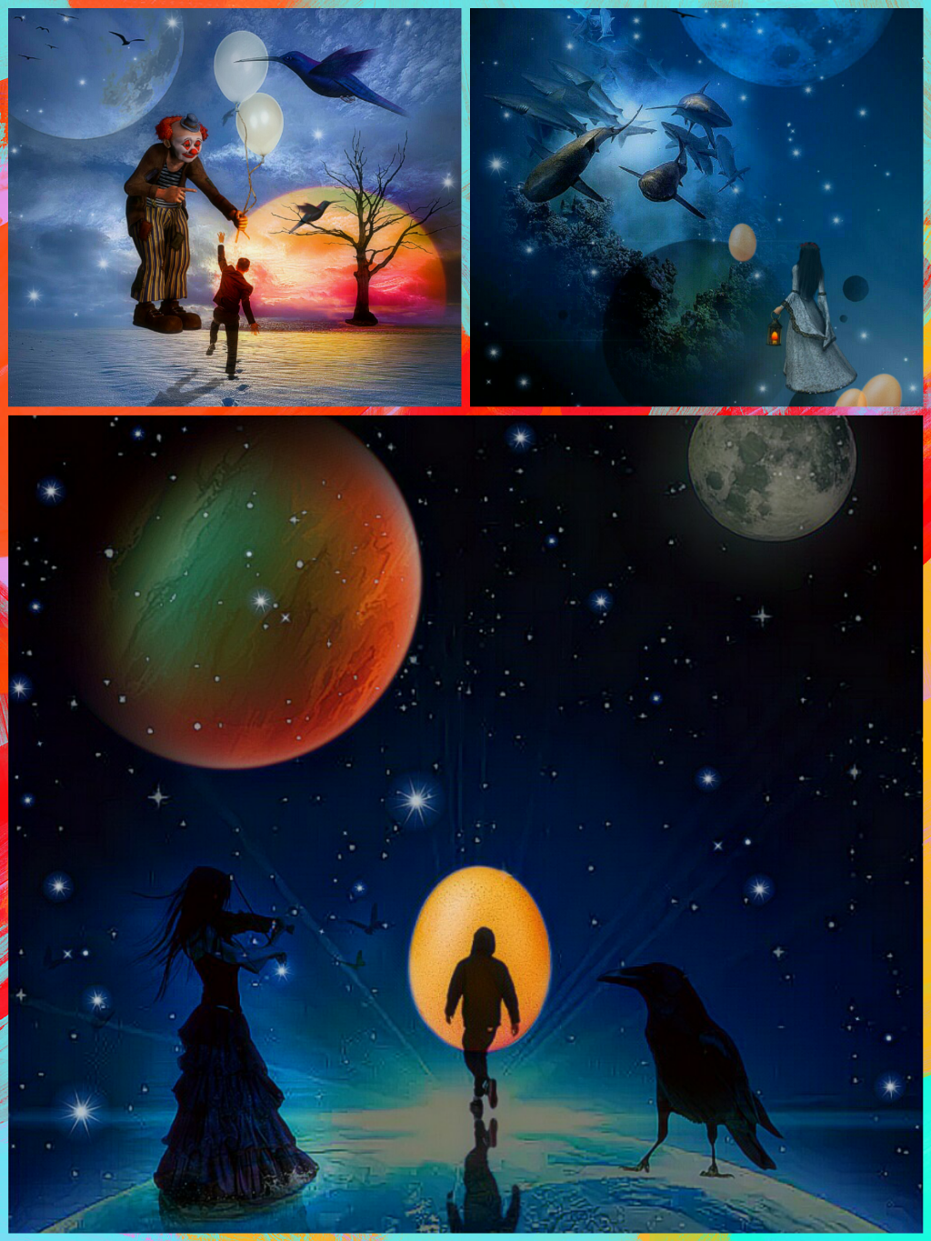 Planeten clipart collage. Freetoedit artcollage surreal fantasy