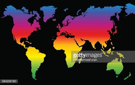 Planeten clipart colorful. Planet earth rainbow colored