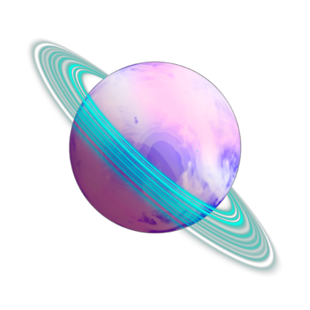 Ftestickers planet saturn . Planeten clipart colorful