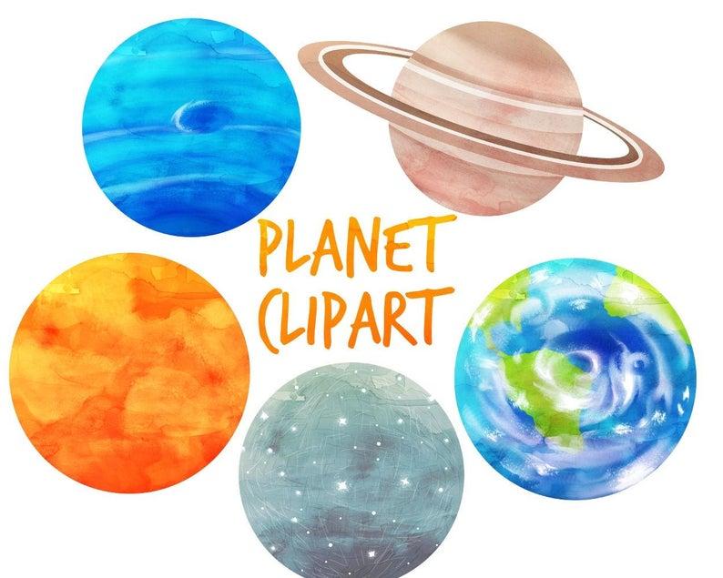 Space planets solar syatem. Planeten clipart colorful