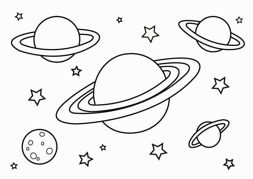 Planeten clipart colouring. Free printable planet coloring