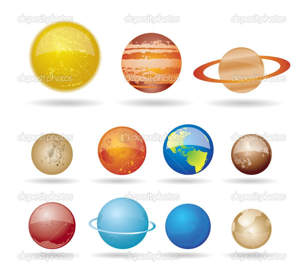 Planeten clipart display. Printable planets and solar