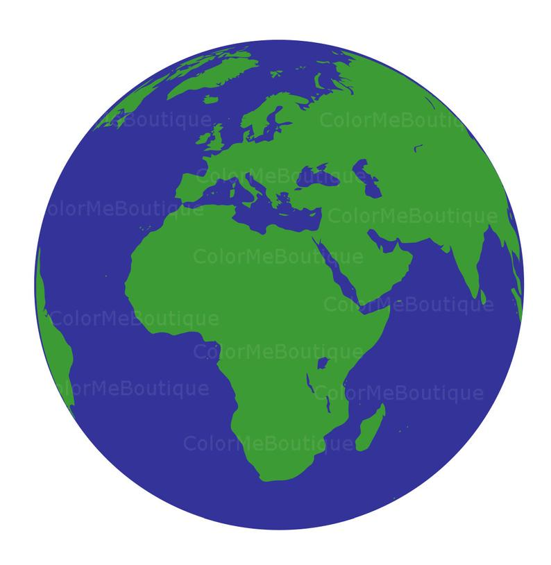 Planeten clipart earth half. Planet