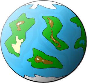 Planeten clipart geography. Planet symbol globe clip