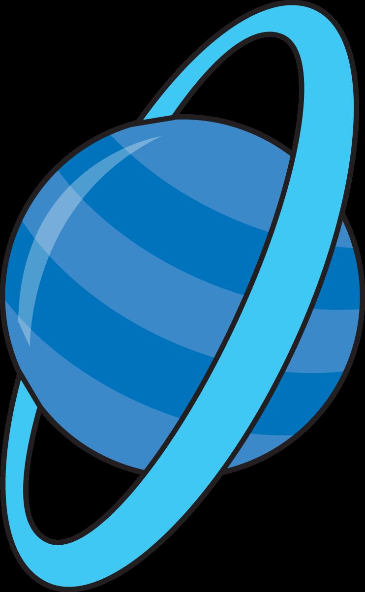 Cliparts planet blue zone. Planeten clipart line
