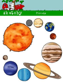 Sun graphics dpi color. Planets clipart science